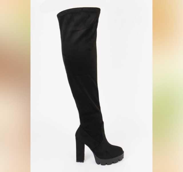 Продам: Ботфорты на высоком блочном каблуке