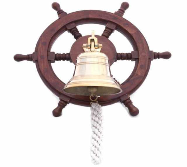 Продам: Корабельная рында на штурвале. Сувенир, подарок, дизайн интерьера