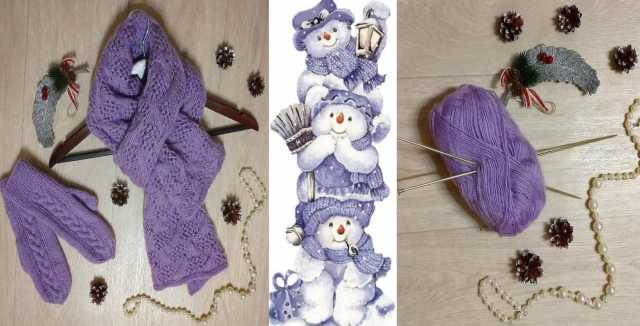 Продам: шарф и варежки