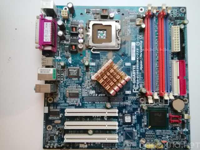 Продам: Материнская плата Gigabyte и ЦП Intel Pe