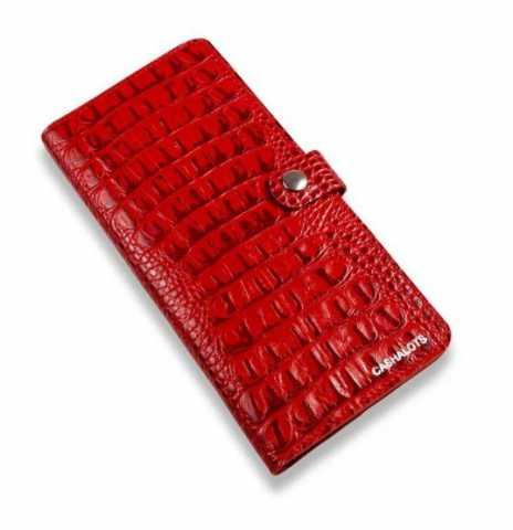 Продам: Кожаный портмоне Longer, Кайман Красный