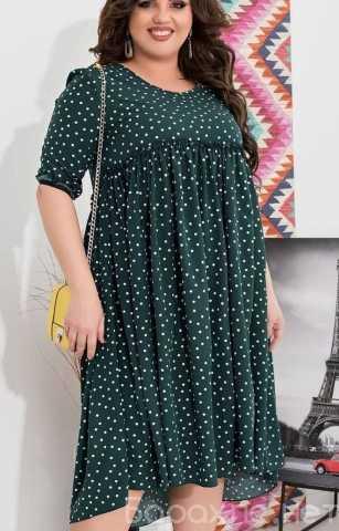 Продам: Платье в мелкий горох р-ры 54-64