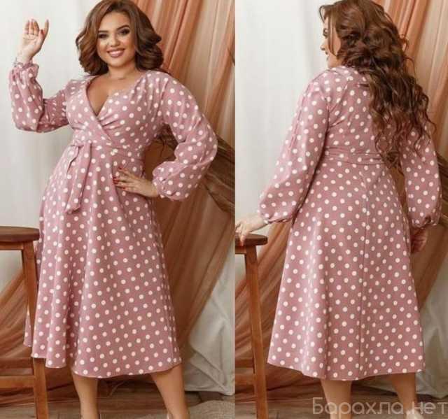 Продам: Вечернее платье в горох р-ры 52-62