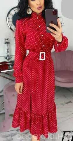 Продам: Длинное платье в мелкий горох р-ры 48-54