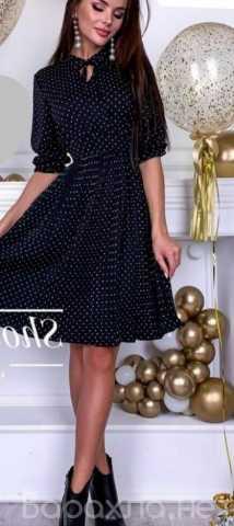 Продам: Платье миди в мелкий горох р-ры 44-54