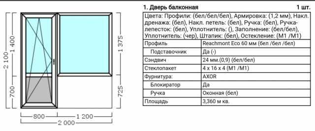 Продам: Балконный блок ПВХ