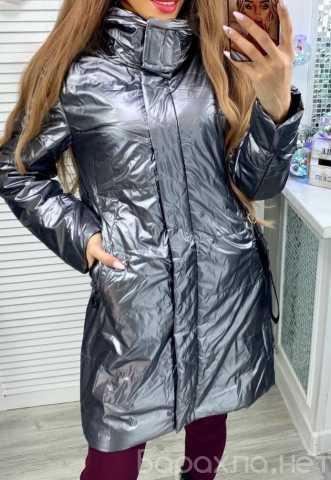Продам: Длинная блестящая куртка р-ры 40-50