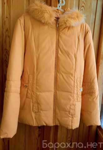 Продам: Зимняя женская куртка- пуховик жёлтая
