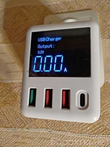 Продам: быстрая зарядка USB QC3.0+PD3.0 4 порта