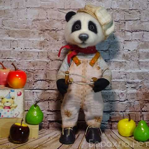 Продам: Войлочная игрушка: Озорной малыш панда.(