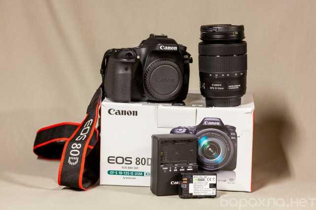 Продам: Canon EOS 80D Камера + 18-135mm объектив