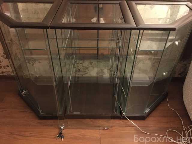 Продам: Витрины стеклянные с деревянным профилем