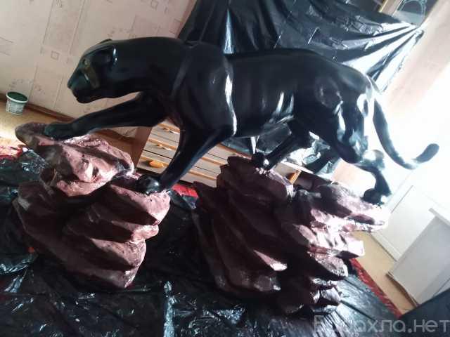 Продам: Скульптура Пантера на скале