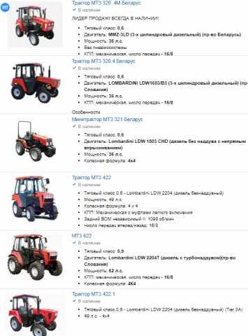 Продам: малогабаритные трактора МТЗ