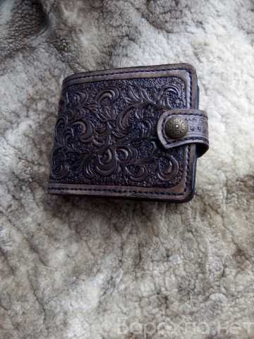 Продам: кожаный кошелёк ручной работы