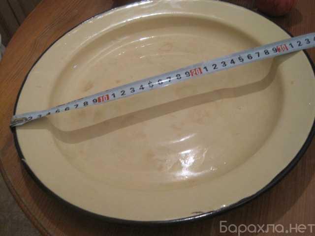 Продам: Широкая стальная эмалированная тарелка
