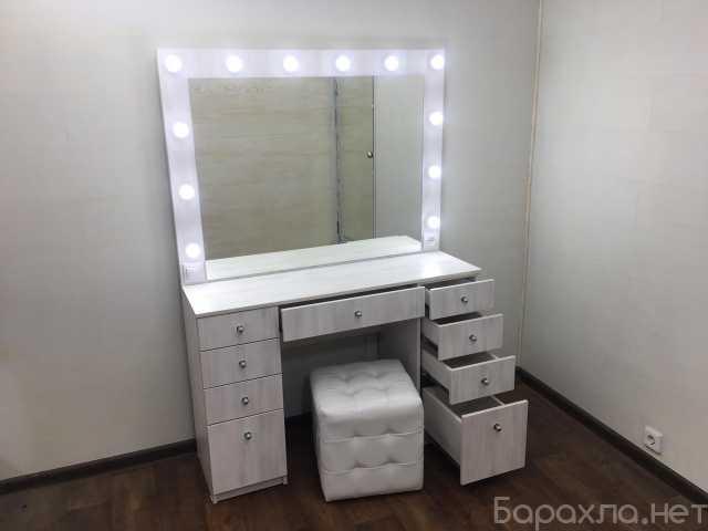 Продам: Комод с зеркалом и подсветкой выбеленное