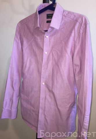 Продам: Мужская однотонная рубашка приталенная