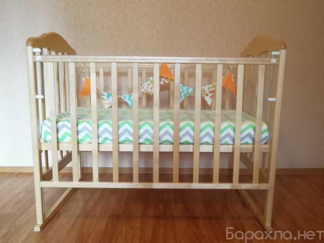 Продам: Детская кроватка-качалка и матрас