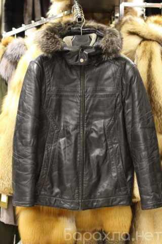 Продам: мужская куртка из кожи с мехом 46