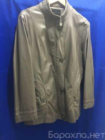 Продам: женская, бежевая кожаная куртка, размер
