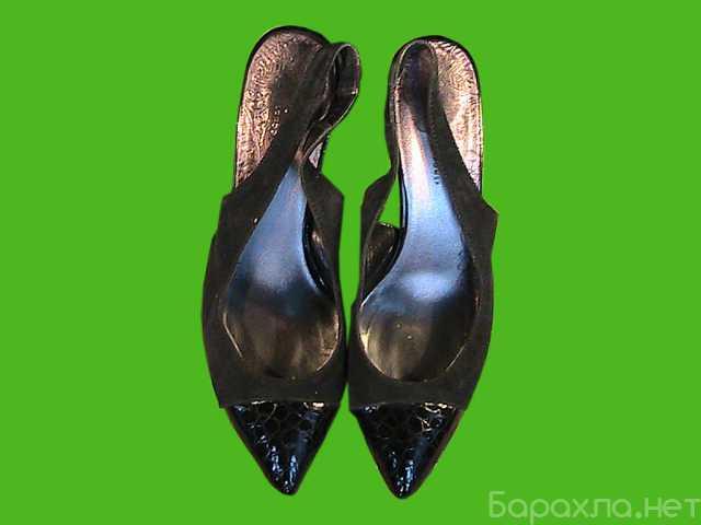 Продам: босоножки 39,40 разм. бу:чёрные и синие