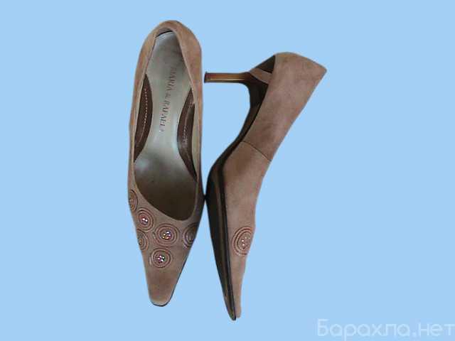 Продам: туфли женские замшевые светло-коричневые