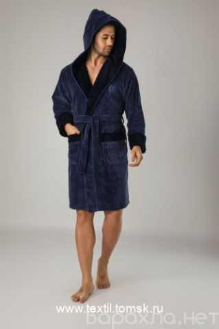 Продам: Короткий мужской халат с капюшоном Nusa