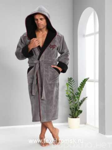 Продам: мужской махровый халат с капюшоном