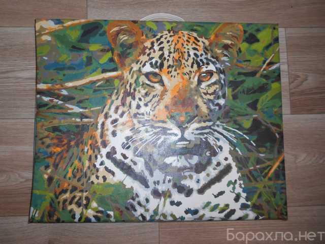 Продам: Картина Леопард на холсте 40 х 50 см