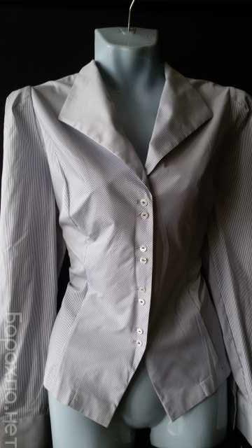 Продам: Блузка серая в тонкую полоску р. 44-46 н