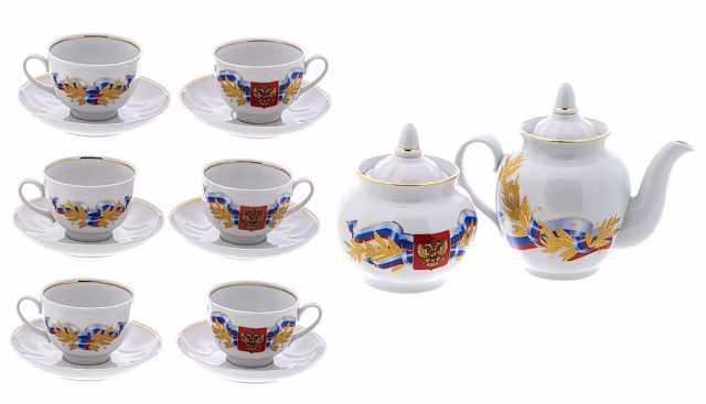 Продам: Сервиз чайный на 6 персон, герб России